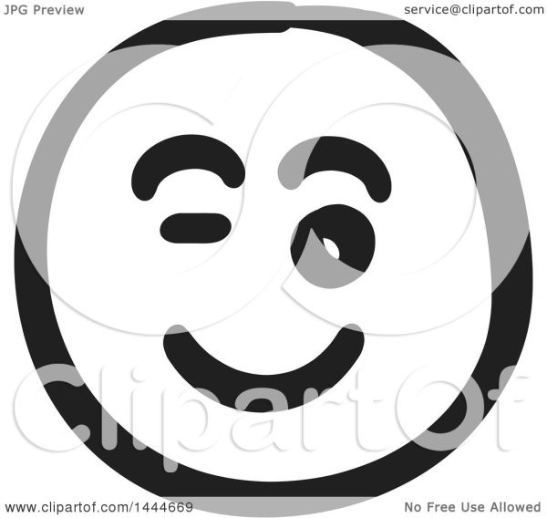 clipart of black and white flirty