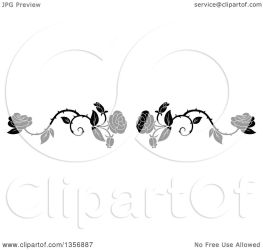 vine rose border floral vector clipart royalty element tradition sm