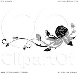 vine rose border floral clipart vector illustration royalty element graphics seamartini clipartof tradition sm