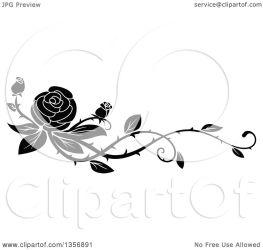 vine rose border floral vector clipart illustration element graphics royalty tradition sm seamartini clipartof portfolio