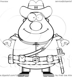 clipart of a black and white happy chubby civil war confederate soldier man royalty free vector illustration by cory thoman [ 1080 x 1024 Pixel ]