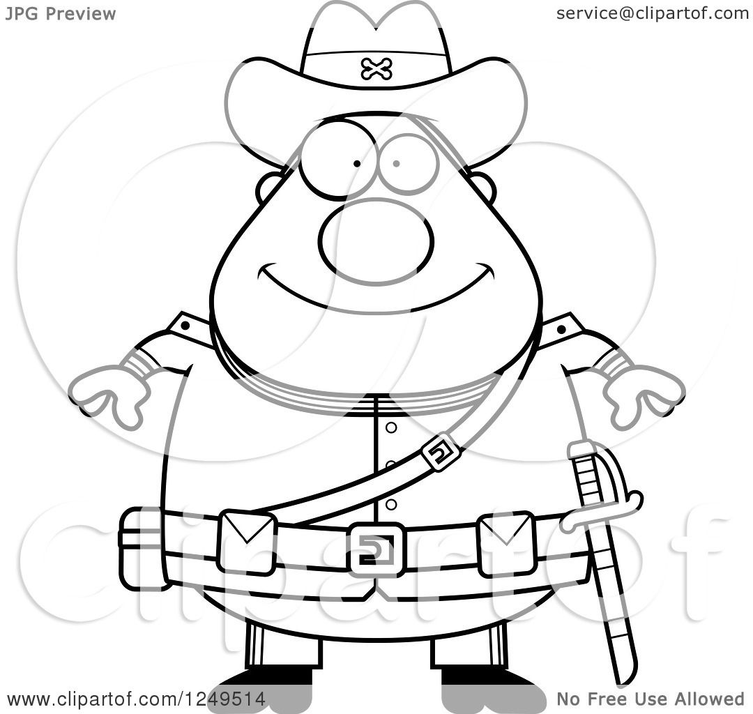 hight resolution of clipart of a black and white happy chubby civil war confederate soldier man royalty free vector illustration by cory thoman