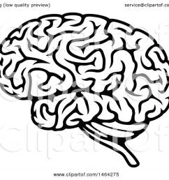clipart of a black and white human brain royalty free vector illustration by vector tradition [ 1080 x 1024 Pixel ]