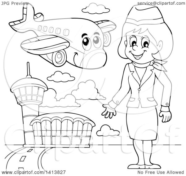 20 Airline Pilot Clip Art Black And White Ideas And Designs