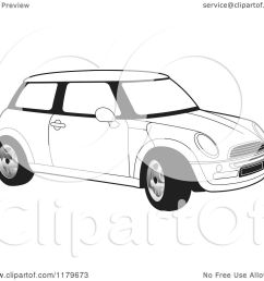 mini cooper outline drawing [ 1080 x 1024 Pixel ]