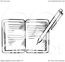 journal pen writing clipart vector illustration royalty graphics tradition sm seamartini