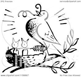 bird feeding worm clipart chicks retro royalty bestvector vector clip illustration clipartof
