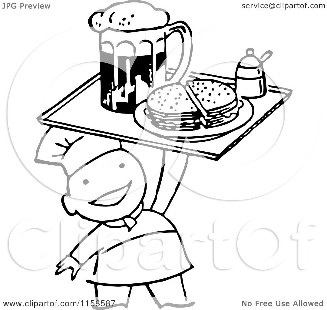 Black And White Cartoon Sandwich Pictures To Pin On