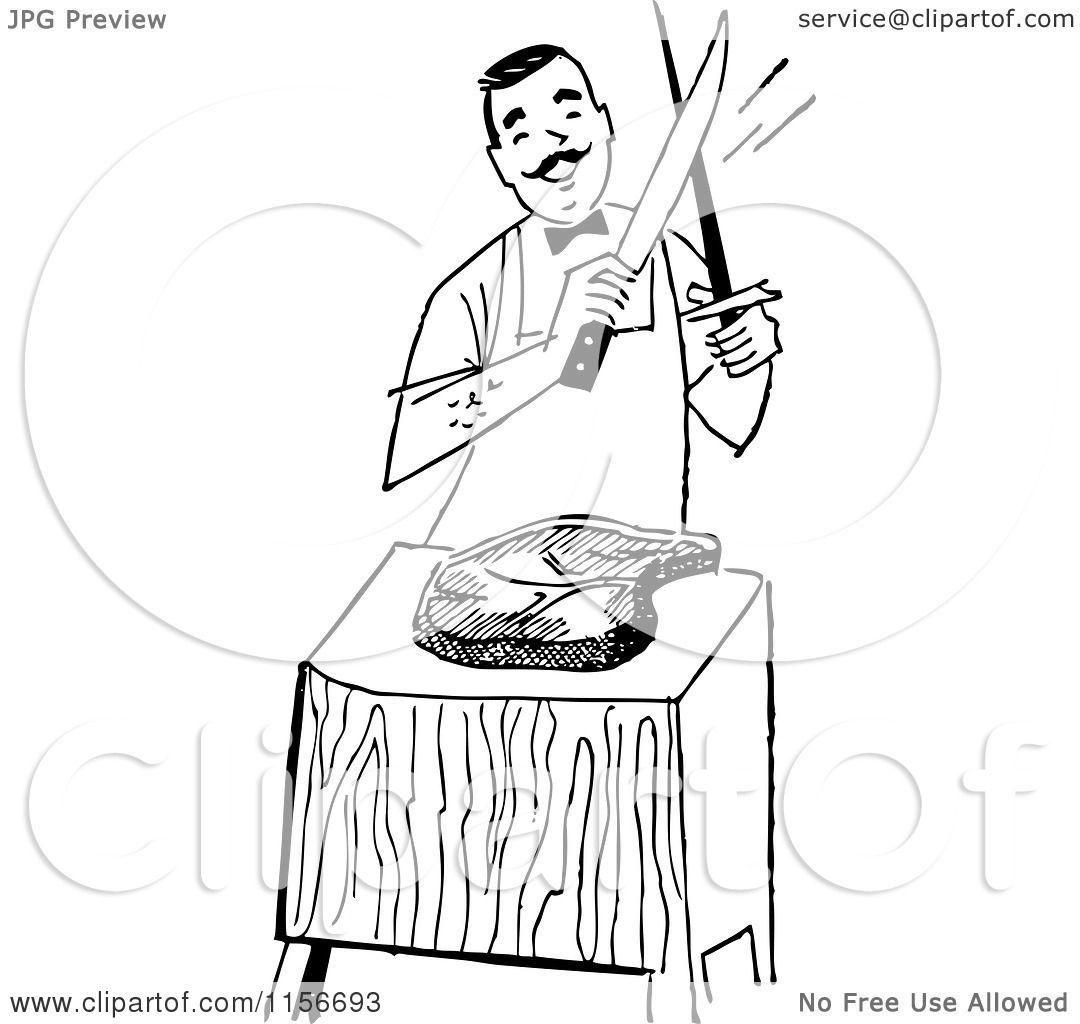 Clip Art Meat Cutter