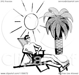 beach sun tropical bathing clipart retro vector royalty bestvector clip illustration without