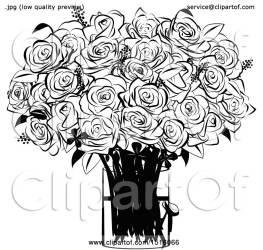 rose vase illustration clipart boquet vector royalty clip rodriguez vitmary