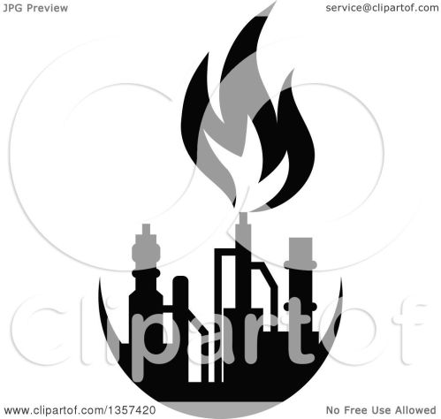 small resolution of clipart of a black and white silhouetted natural gas and flame factory royalty free vector illustration by vector tradition sm