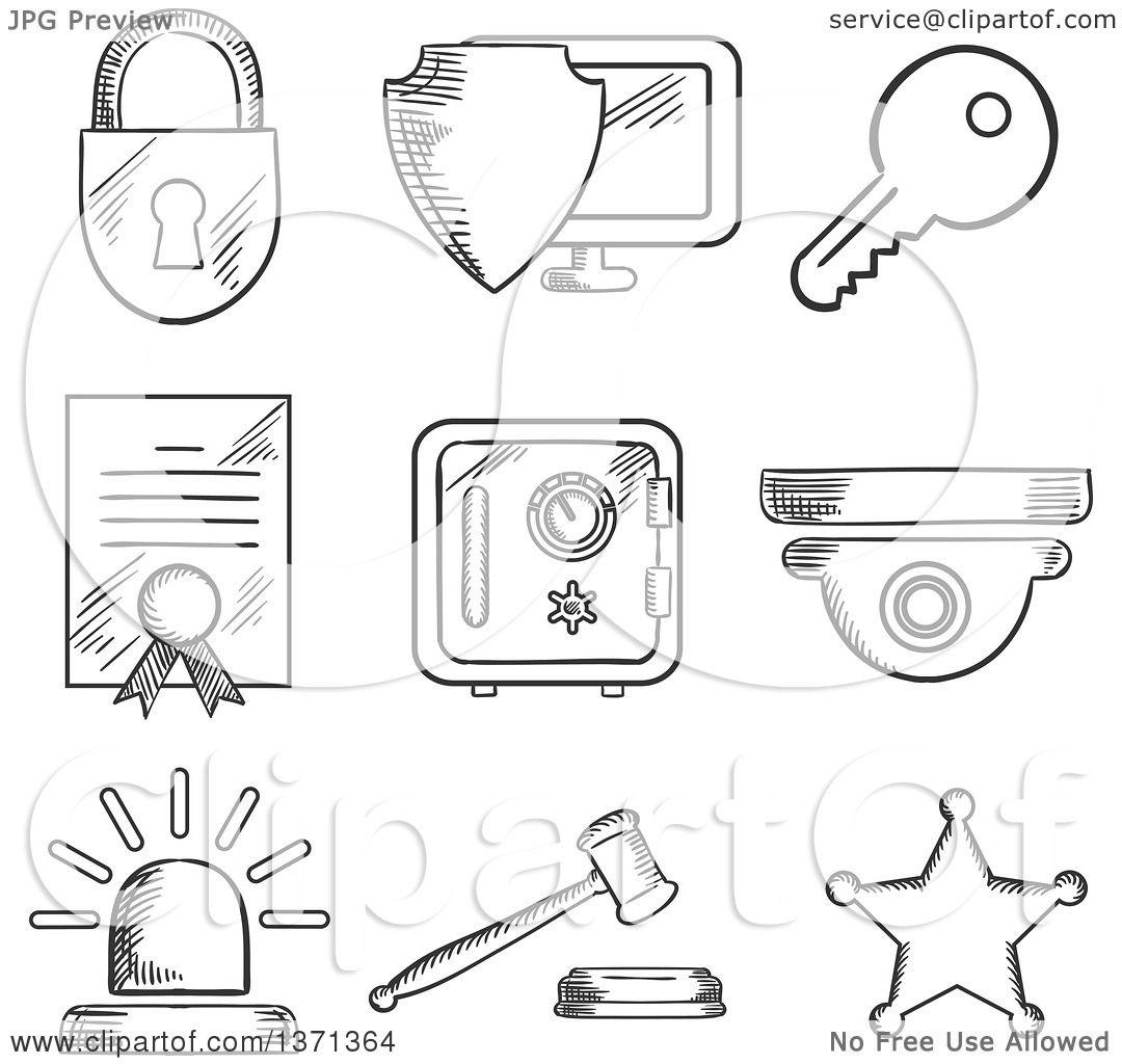 Virus Computer Security Clip Art
