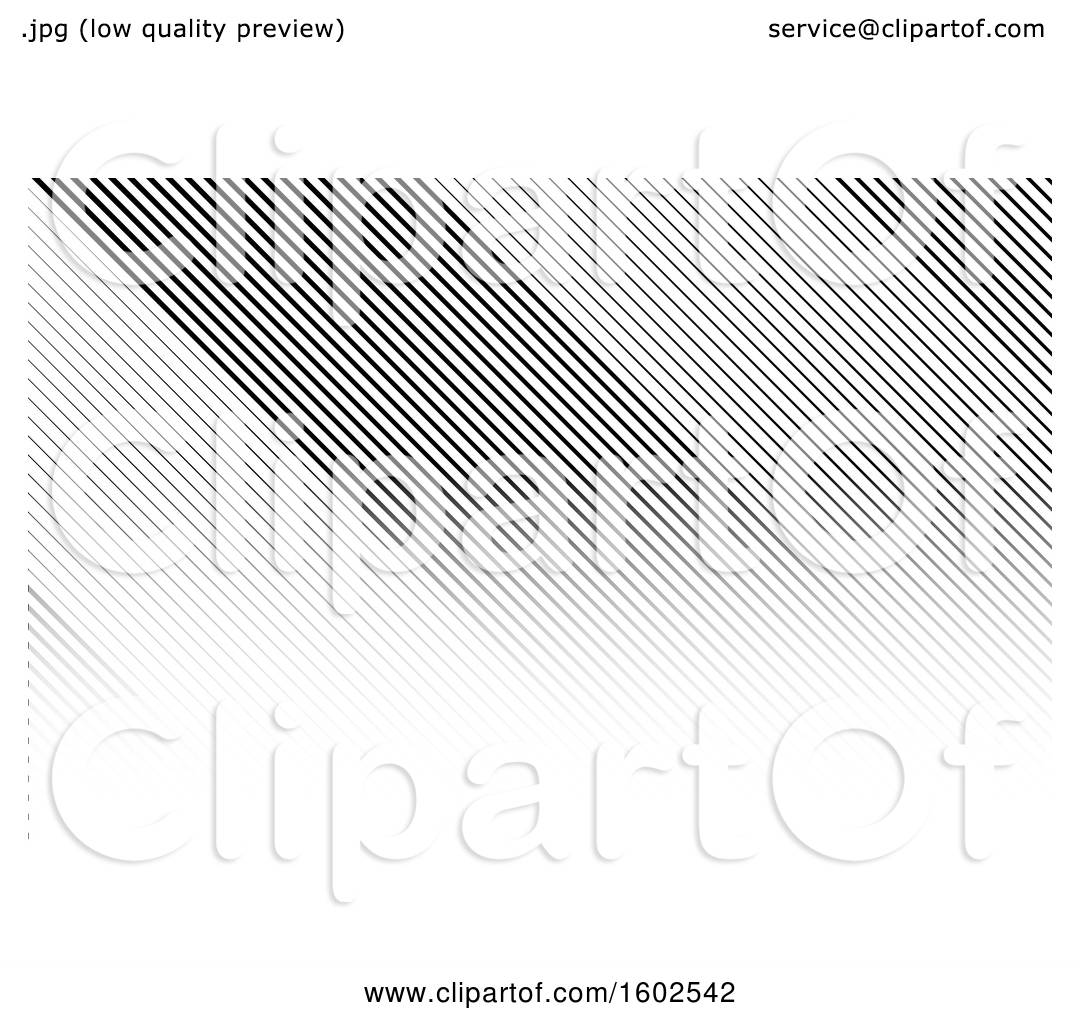 Clipart Of A Black And White Stripes Business Card Or