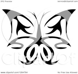 butterfly tribal clipart vector illustration royalty seamartini graphics tradition sm