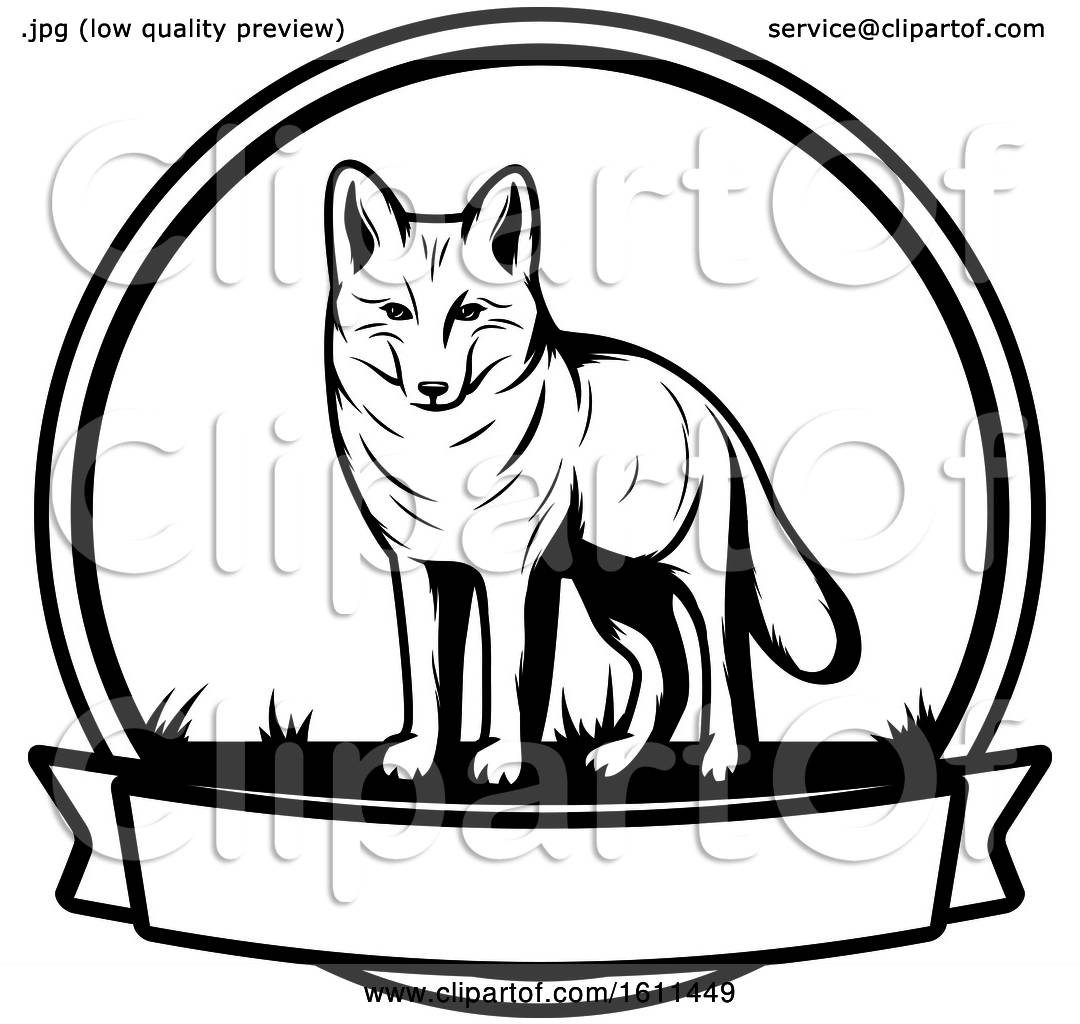 hight resolution of clipart of a black and white wolf hunting design royalty free vector illustration by vector