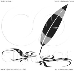 pen quill feather writing illustration clipart royalty vector perera lal