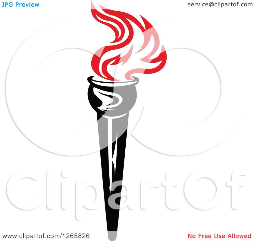 medium resolution of clipart of a black handled torch with red flames royalty free vector illustration by vector tradition sm