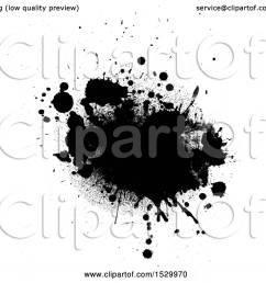 clipart of a black ink grunge splatter royalty free vector illustration by kj pargeter [ 1080 x 1024 Pixel ]