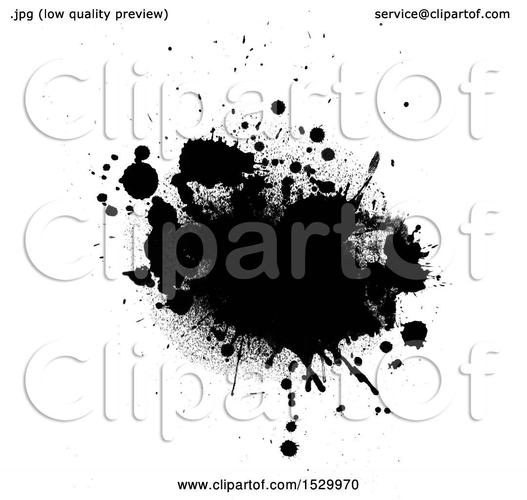 hight resolution of clipart of a black ink grunge splatter royalty free vector illustration by kj pargeter