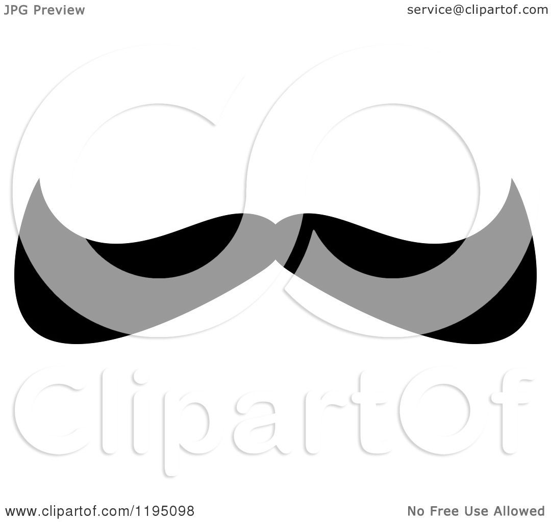 hight resolution of clipart of a black moustache 11 royalty free vector illustration by vector tradition sm