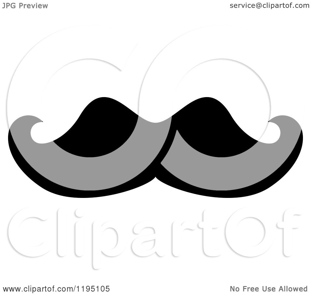 hight resolution of clipart of a black moustache 6 royalty free vector illustration by vector tradition sm