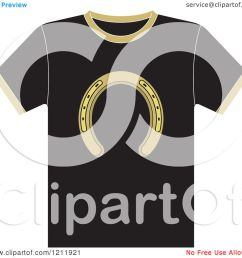 clipart of a black t shirt with a horseshoe royalty free vector illustration by lal [ 1080 x 1024 Pixel ]
