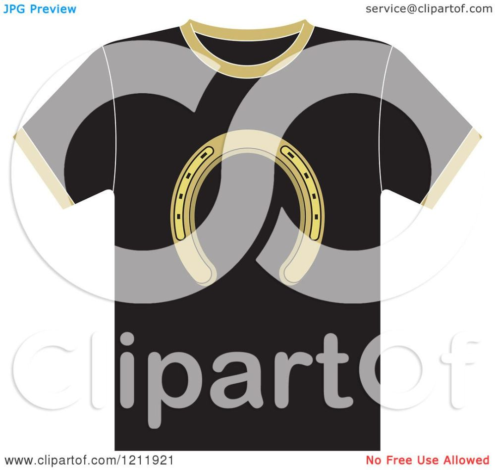 medium resolution of clipart of a black t shirt with a horseshoe royalty free vector illustration by lal