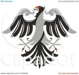 orange eagle clipart vector heraldic illustration royalty tradition sm
