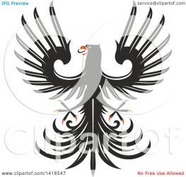 eagle orange heraldic clipart vector illustration royalty tradition sm clip