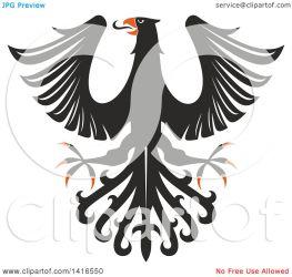 eagle orange vector clipart heraldic royalty illustration tradition sm seamartini graphics