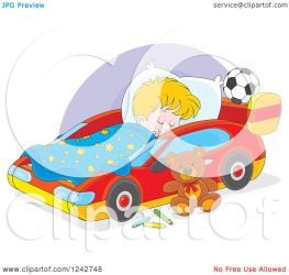sleeping boy bed clipart blond royalty illustration vector bannykh alex without