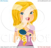 clipart of blond caucasian woman