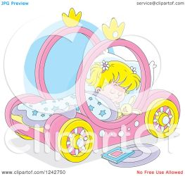 sleeping bed illustration pink carriage clipart royalty blond bannykh alex vector collc0056 protected license copyright law without