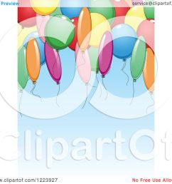 clipart of a blue birthday party background with balloons royalty free vector illustration by vector tradition sm [ 1080 x 1024 Pixel ]