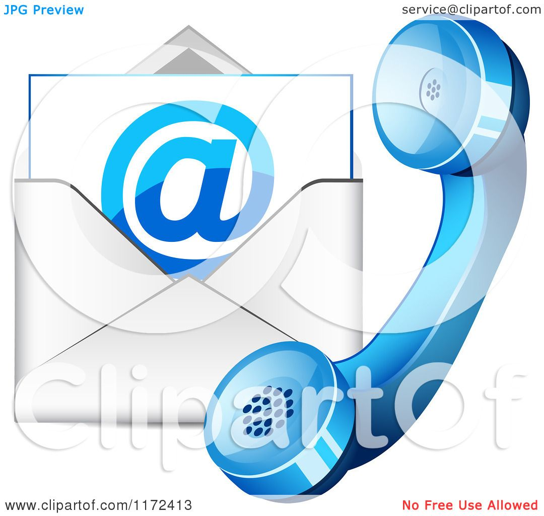 hight resolution of clipart of a blue contact telphone and email icon royalty free vector illustration by vectorace