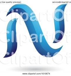 clipart of a blue letter n royalty free vector illustration by cidepix [ 1080 x 1024 Pixel ]