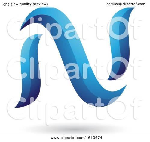small resolution of clipart of a blue letter n royalty free vector illustration by cidepix