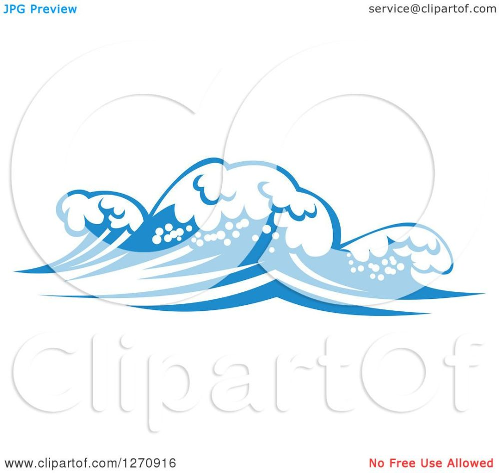 medium resolution of clipart of a blue ocean surf waves 15 royalty free vector illustration by vector tradition