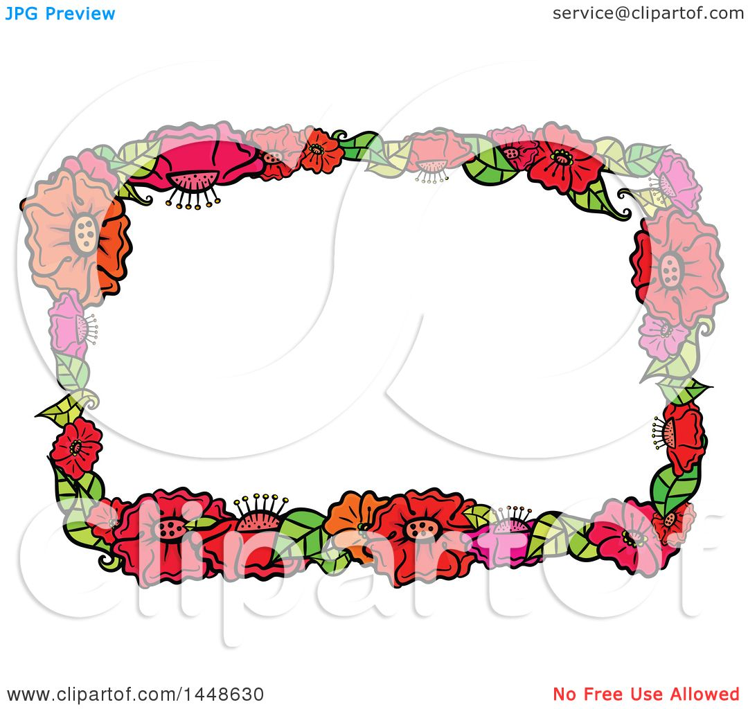 hight resolution of clipart of a border frame of flowers royalty free vector illustration by prawny