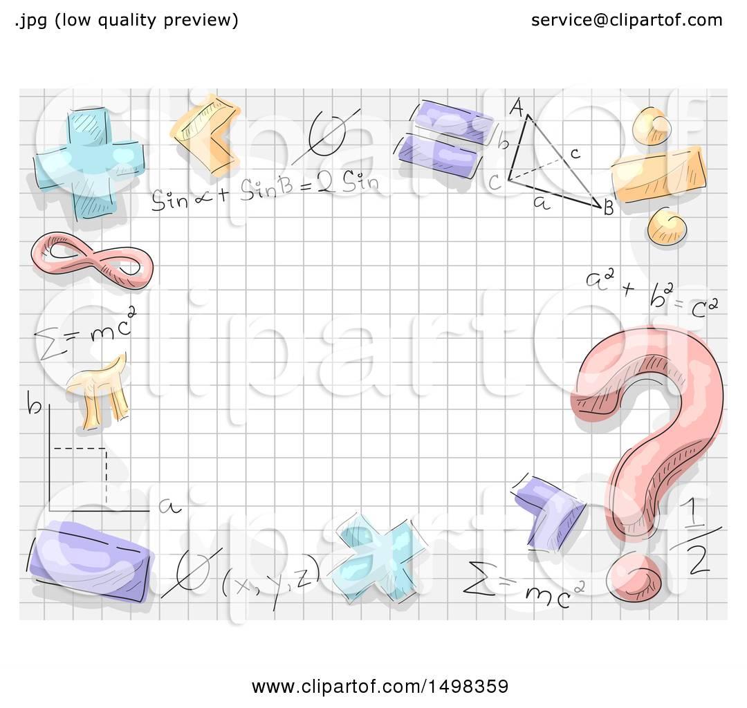Math Symbols Border
