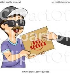 clipart of a boy wearing a disguise and accepting a top secret envelope royalty free [ 1080 x 1024 Pixel ]