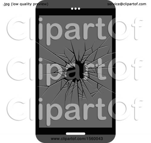 small resolution of clipart of a broken glass cell phone screen royalty free vector illustration by lal perera