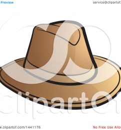 clipart of a brown cowboy hat royalty free vector illustration by lal perera [ 1080 x 1024 Pixel ]