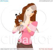 clipart of brunette caucasian