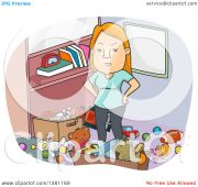 clipart of cartoon angry red