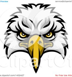 clipart of a cartoon bald eagle mascot face royalty free vector illustration by atstockillustration [ 1080 x 1024 Pixel ]