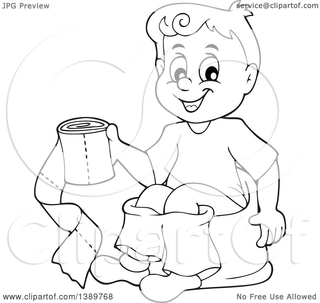 Sheet Of A Boy On Toilet Coloring Pages