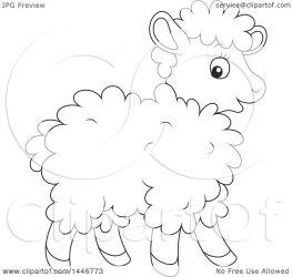 cartoon sheep lamb baby cute clipart illustration lineart vector royalty bannykh alex clip reese lil clipartof