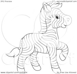 zebra cute baby cartoon clip walking clipart lineart illustration zebras royalty vector bannykh alex graphic